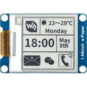 Entwicklerboards - E-Ink Display 1,54 (3,9cm), schwarz / weiß WAVESHARE 12955
