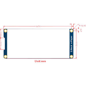 Entwicklerboards - Display E-Ink, 2,9, schwarz / weiß WAVESHARE 12956