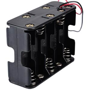 Holder for 10 AA batteries with cable FREI
