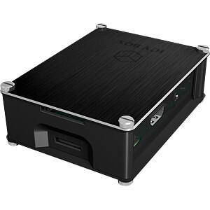 Gehäuse für Raspberry Pi 3, Alu, schwarz ICYBOX IB-RP102