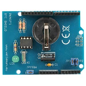 Arduino RTC shield kit, real-time clock VELLEMAN KA07