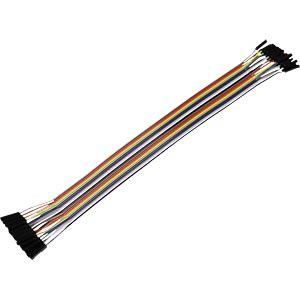 Entwicklerboards - Steckbrückenkabel, 20 Pole, m/m, f/f, f/m, 25 LBL RB-CB-025