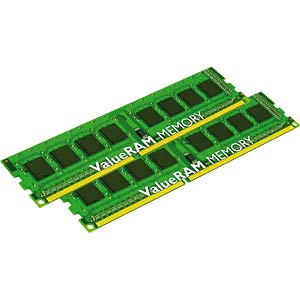 8 GB DDR3 1333 CL9 Kingston 2er Kit KINGSTON KVR13N9S8HK2/8