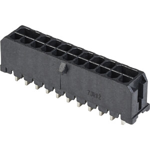 Micro-Hi Connector 2x11 poles 90° THT BELLWETHER 70095-2208
