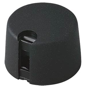 Potentiometer knob Ø 24 mm, 6-mm axle, TOP-KNOBS, black OKW A1024069