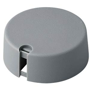 Potentiometer knob Ø 40 mm, 6.35-mm axle, TOP-KNOBS, grey OKW A1040638
