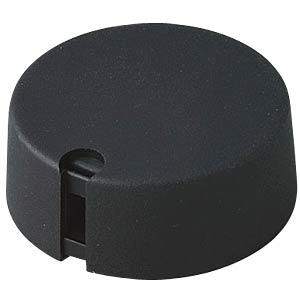 Potentiometer knob Ø 40 mm, 6.35-mm axle, TOP-KNOBS, black OKW A1040639