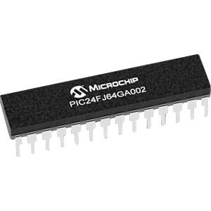 PICmicro Mikrocontroller, 16-Bit, 2,0-3,6 V, 64 KB, DIP-28 MICROCHIP PIC24FJ64GA002-I/SP