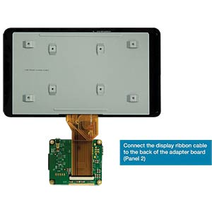7 TFT LCD-Touch-Display, 800 x 480 pixel RASPBERRY PI RASPBERRY PI TOUCHSCREEN