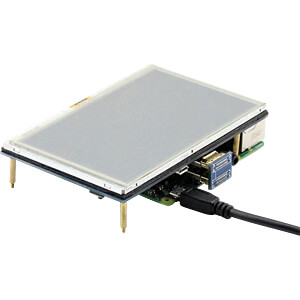 Raspberry Pi Shield - LCD-Touch-Display, 5, 800x480 Pixel WAVESHARE 10563
