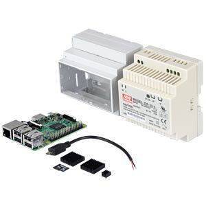 Raspberry Pi 3 including DIN rail housing and accessories REICHELT RASP 3 B BDL DIN