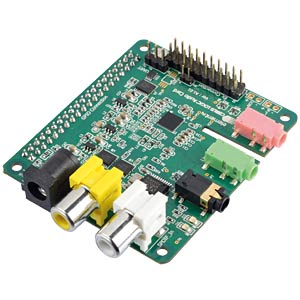 AUDIO CARD for Raspberry Pi A+, B+, 2 & 3 WOLFSON MICROELECTRONICS WOLFSON AUDIO CARD 2