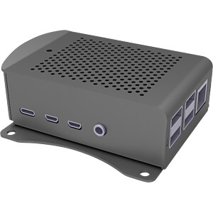 Gehäuse für Raspberry Pi 4, Alu, schwarz JOY-IT RB-ALUCASEP4+06