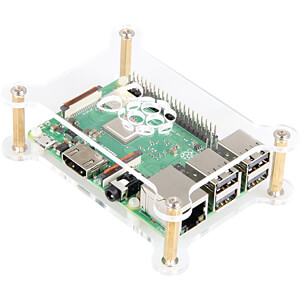 Gehäuse für Raspberry Pi 3, 2x Acryl, transparent JOY-IT RB-CASE+12