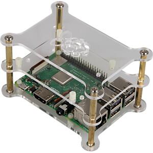 Gehäuse für Raspberry Pi 3, 3x Acryl, transparent JOY-IT RB-CASE+13