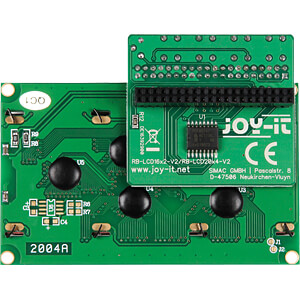 Raspberry Pi - Display LCD, 16x2, gelb + 4 Buttons JOY-IT RB-LCD20X4