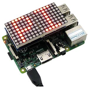 Raspberry Pi Shield - LED-Matrix, 8x16 JOY-IT RB-LEDMATRIX
