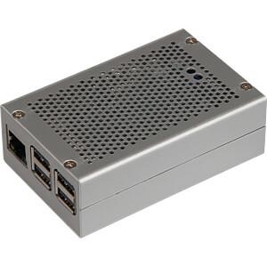 Gehäuse für Raspberry Pi 3 & StromPi 2, Alu, silber JOY-IT RB-STROMPI2-CASESI