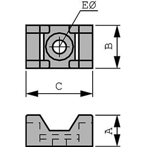Schraubsockel für 9 mm Kabelbinder, weiß, 100er-Pack RND CABLE RND 475-00386
