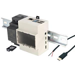 RPI4 BDL 2GB DIN - Raspberry Pi 4B 2GB inkl. Hutschienen-Gehäuse & Zubehör