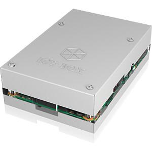 Gehäuse für Raspberry Pi 3, Alu / Acryl, silber ICYBOX IB-RP101
