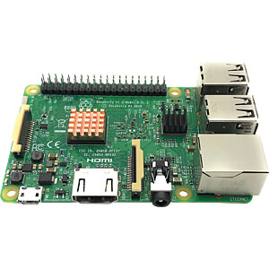Raspberry Pi cooling kit, 3-piece with 3M adhesive film FREI