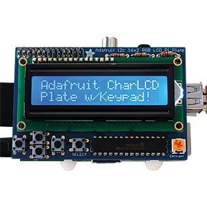 Raspberry Pi - LCD 16X2 blau/weiß + Keypad ADAFRUIT 1115