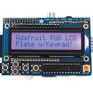 Raspberry Pi LCD 16X2 RGB positive + Keypad ADAFRUIT 1109