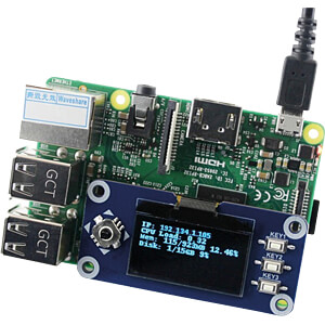 Raspberry Pi - Display OLED, 1,3, inkl. Joystick WAVESHARE RPI-13OLHAT