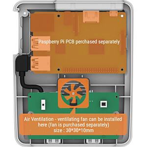 Gehäuse für Raspberry Pi 3, SNES-Design SERTRONICS SUPERPI-E