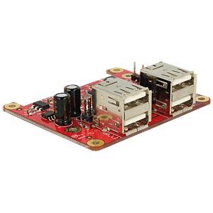 Raspberry Pi converter, USB to 4 x USB 2.0 A DELOCK 62650