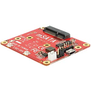 Raspberry Pi converter, USB to mSATA DELOCK 62648