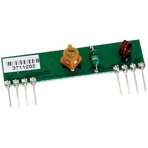 433MHz receiver module, 4.5 - 5.5V, 106dBm VELLEMAN RX433N