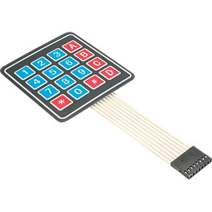 Entwicklerboards - Folientastatur, 4 x 4 Ziffern SERTRONICS SM4X4