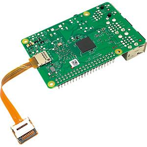 Raspberry Pi - microSD-Verlängerung, ultraflexibel, 10cm SERTRONICS TFEXT-UF-10