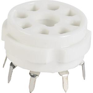 Tube socket, Octal, 8-Pin, print FREI 8 PRK