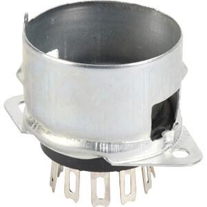 Röhrenfassung, Noval, 9-pol, Lötanschluss FREI 9 CHP