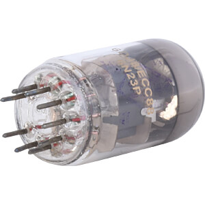 Receiver Tube, Noval, 9-Pin, 6,3 V, 0,37 A, 55,6 x 22 mm FREI ECC 88 / 6 DJ 8