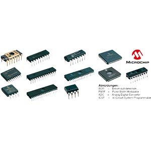 PIC controller, SO-28 MICROCHIP PIC16F876-20/SO