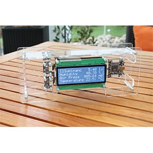 Weather station starter kit, transparent TINKERFORGE STARTERKIT WETTERSTATION