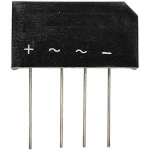 Bridge rectifier -WW+ 2 A, 560 V AC HY-ELECTRONIC COMPONENTS B380C2300/1500