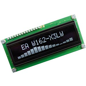Display OLED, 2x16, 80x36mm, weiss ELECTRONIC ASSEMBLY EA W162-X3LW