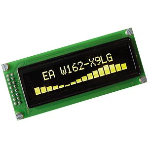 Display OLED, 2x16, 85x36mm, gelb ELECTRONIC ASSEMBLY EA W162-X9LG