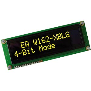 OLED display, 2 x 16, 122 x 44 mm, white ELECTRONIC ASSEMBLY EA W162-XBLW