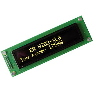 Display OLED, 2x20, 116x37mm, gelb ELECTRONIC ASSEMBLY EA W202-XLG