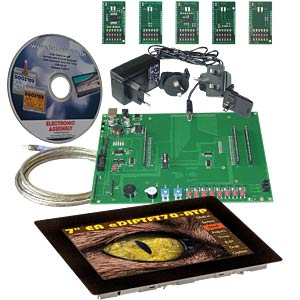 Starter kit with 17.8-cm (7) TFT, touch, capacitive ELECTRONIC ASSEMBLY EA EVALEDIPTFT70TC