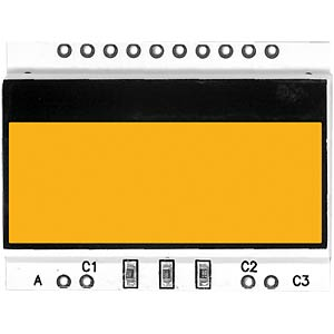 LED-Beleuchtung für DOG-Serie 104..., amber ELECTRONIC ASSEMBLY EA LED36X28-A