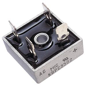 Bridge rectifier, metal, 420 V AC/600 V, 35 A HY-ELECTRONIC COMPONENTS KBPC3506