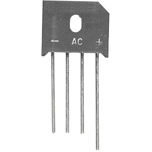 Bridge rectifier 70 V AC 6 A 100 V HY-ELECTRONIC COMPONENTS KBU601