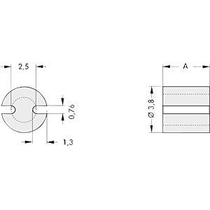 FIS MAH 301 - Abstandshalter für 3 mm LEDs